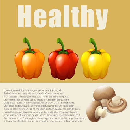 fresh vegetable: Infographic with fresh vegetable illustration Illustration