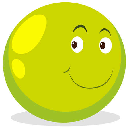 round: Happy face on round ball illustration