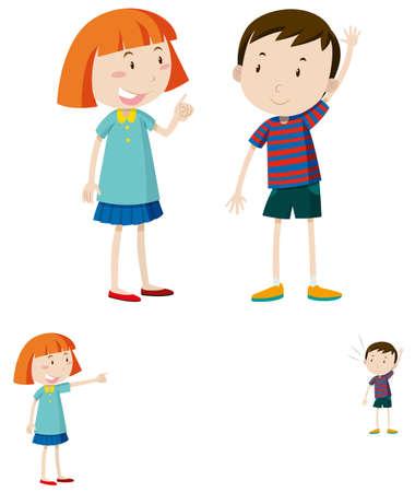 lejos: Adjetivos opuestos cercanos y lejanos ilustración Vectores