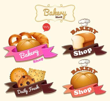 bakery: Bakery shop logo design illustration Illustration