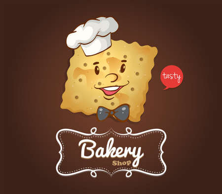 cracker: Cracker with happy face illustration