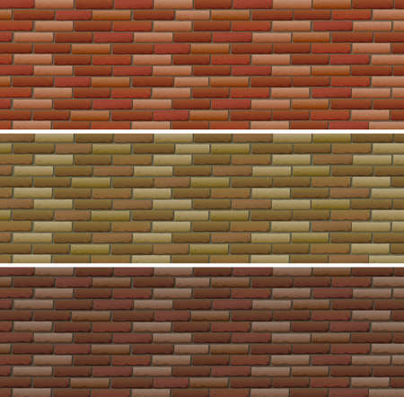 road design: Road and wall design with bricks illustration