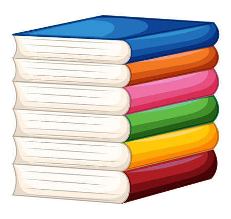 nonfiction: Stack of colorful books illustration Illustration