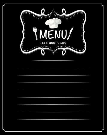 food illustration: Paper design with menu food and drinks illustration
