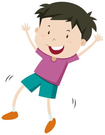 unbalanced: Little boy with happy face illustration