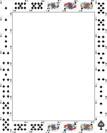 theme: Border design with poker cards illustration
