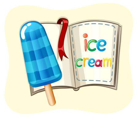 popsicle: Popsicle icecream and a book illustration