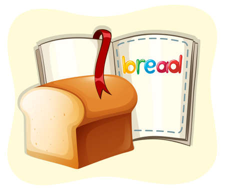 buns: Loaf of bread and a book illustration
