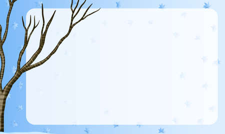 winter tree: Border design with branch of a tree illustration