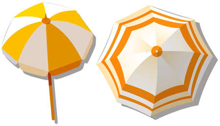 top: Umbrella from top view  illustration