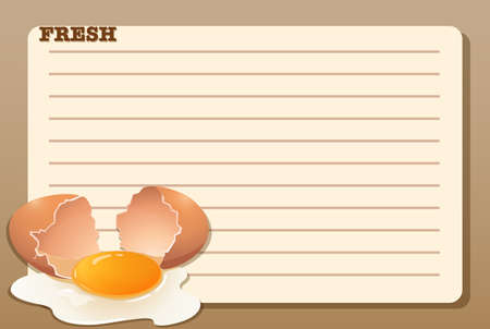 raw egg: Line paper design with raw egg illustration