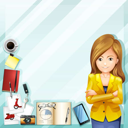 woman accessories: Woman and her accessories illustration Illustration