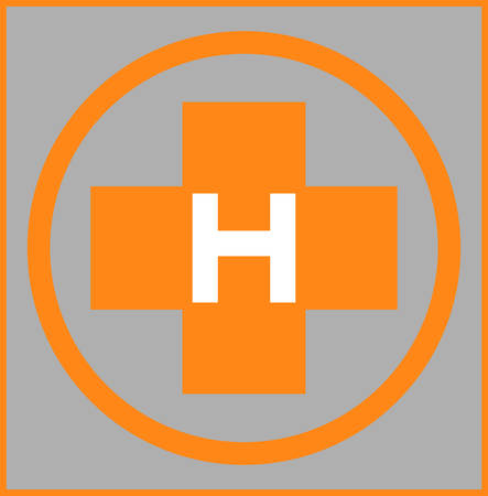 parking space: Close up helipad sign illustration
