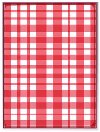 scotch: Fabric pattern in simple design illustration