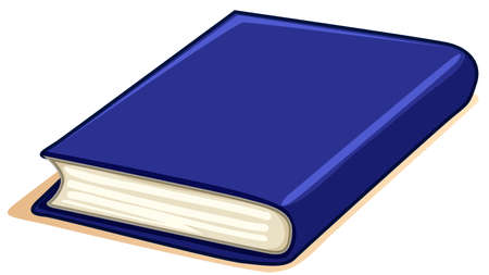 hard cover: Thick book with blue cover illustration