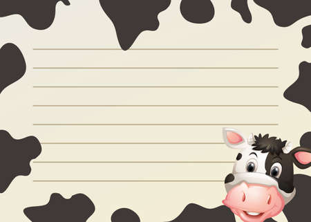 cow skin: Paper design with cow and skin illustration
