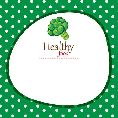 broccoli: Border design with broccoli illustration Illustration