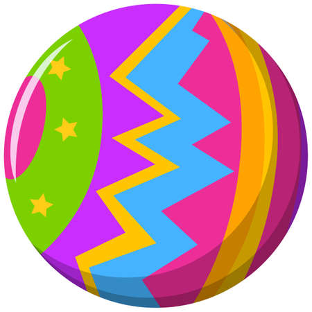round: Round ball with color pattern illustration