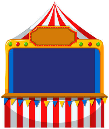 Game border at the tent illustration