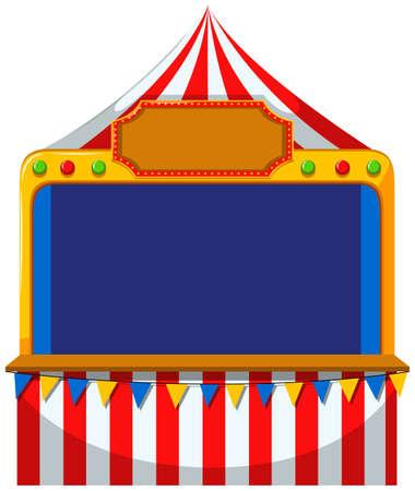 frontière de jeu à la tente illustration