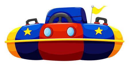 bump: Single bump car with flag illustration Illustration