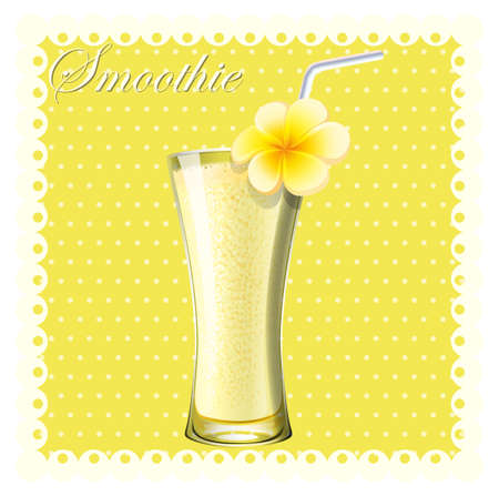 smoothie: Yellow smoothie in glass illustration
