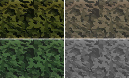 Camouflage pattern with military theme illustration