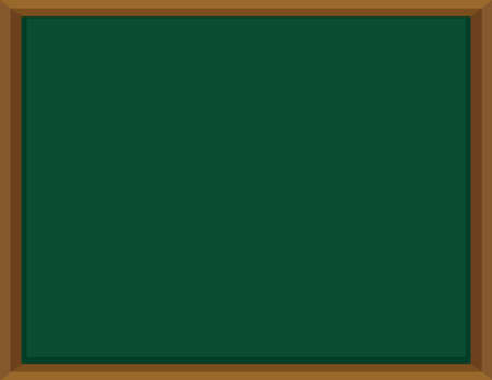 picture frame: Green board with wooden frame illustration Illustration