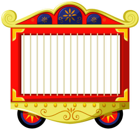 Circus style of animal cage illustration