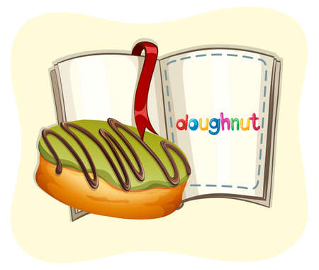 frosting: Donut with green frosting illustration