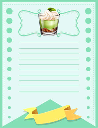 glass paper: Paper design with cake in glass illustration