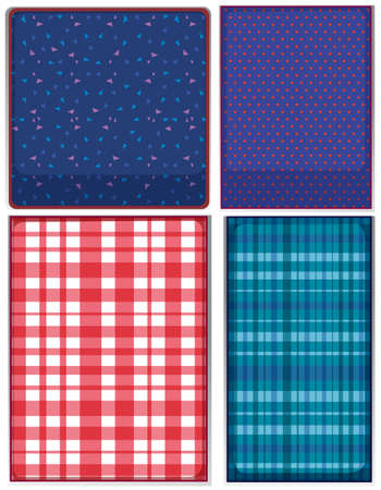 scotch: Four patterns of clothing illustration