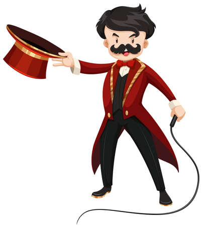whip: Ring master with whip illustration