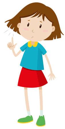 Meisje met kort haar illustratie