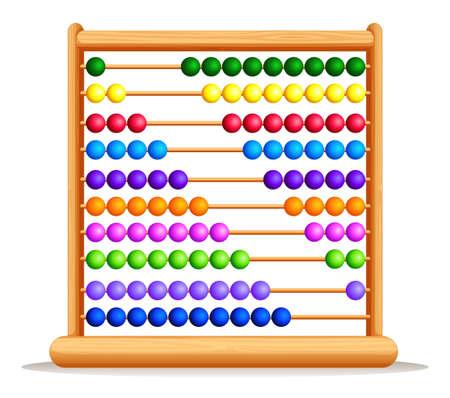 abaco: Ábaco colorido con la ilustración del marco de madera Vectores