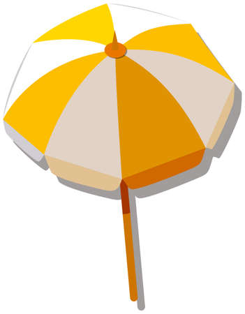 resistant: Single umbrella with yellow and white striped illustration