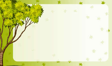 green leaves: Border frame with nature theme illustration