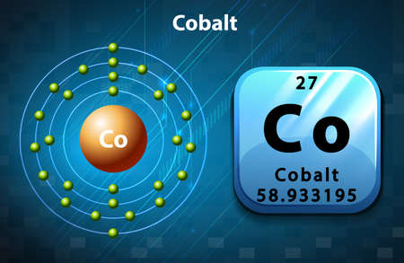electron: Symbol and electron number of Cobalt illustration