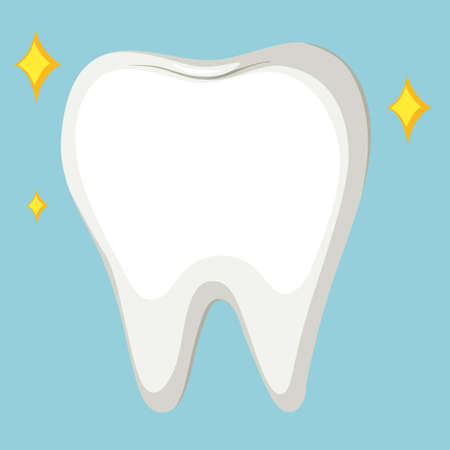 close up: Close up cleaned tooth illustration