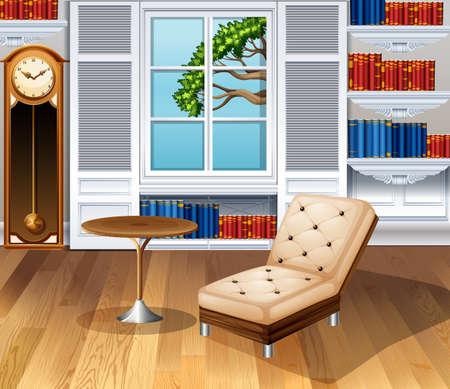 fully: Living room fully furnished illustration