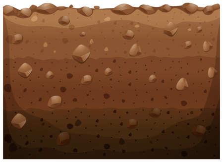 Différent couche de l'illustration souterraine Illustration