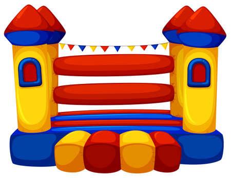 jumping: Castillo de salto sin ilustración niños Vectores