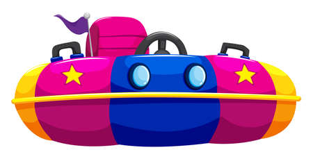 objects equipment: Bump car with one seat illustration Illustration