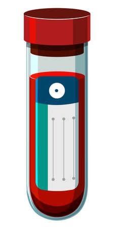 blood sample: Blood sample in medical tube illustration