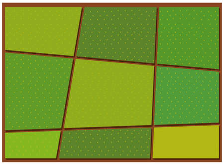 grass land: Pattern of crop from top view illustration
