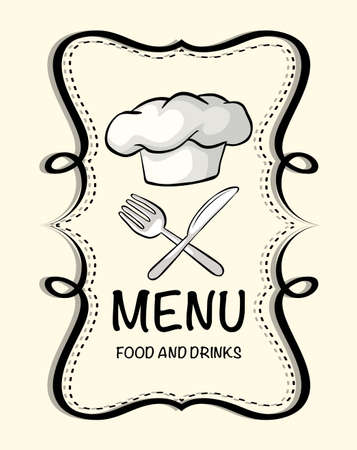 chef clipart: Design with chef hat illustration