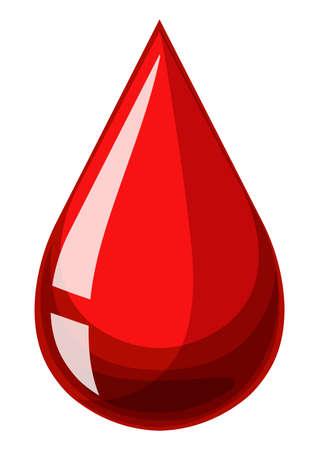 blood bag: Single drop of human blood illustration Illustration