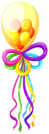 infancia: globos de fantasía en muchos colores ilustración Vectores