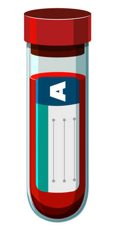 blood type: Blood type A in test tube illustration