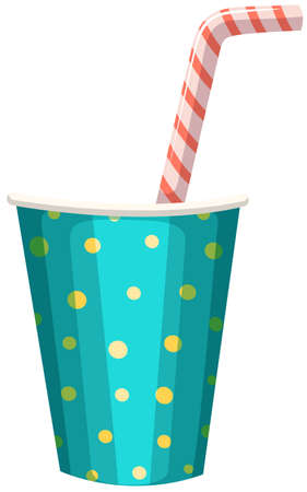 straw: Party cup with straw illustration